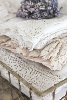 French linens with lavender