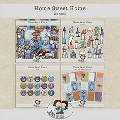 SoMa Design: Home Sweet Home - Bundle Digital Scrapbooking, Sweet Home, House Design, Kit, House Beautiful, Architecture Illustrations, Design Homes