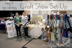 8 Tips for an eye catching Craft Show set-up.  {MoreLikeHome.net}