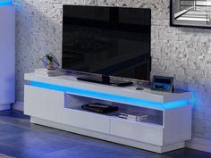 Style At Home, Emerson, Tv Wanddekor, Tv Set Up, Rack Tv, Home Entertainment Centers, Tv Wall Decor, Modular Furniture, Cool Lighting