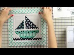 How to Make a Sail Boat Tooth Fairy Pillow Starting with a Quilt Block - Part 1 and 2. Fat Quarter Shop