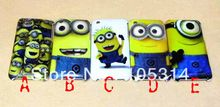 New Cute Despicable Me Minions Hard Back cell phone cover case for iPhone 3 3GS Free Shipping(China (Mainland))