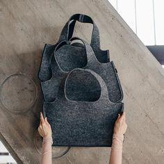 Hurrah! Grey black and light grey storage bags are back in stock!!! #3in1 #storagebag #storage #felt #grey #greyblack #kaaita