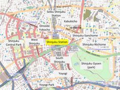 Shinjuku Map: Welcome To The Jungle - Japan Talk