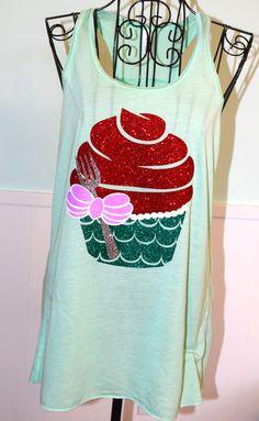 Mermaid Ariel Inspired Cupcake Top - Mint