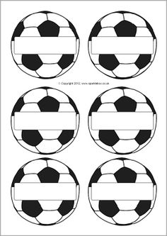 Pupil self-registration footballs (SB7458) - SparkleBox