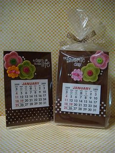 Acrylic frame calendars by donna mikasa, via Flickr - easy and cute gift idea. Plastic is dry erase as well.