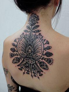organic #back #neck #tattoos