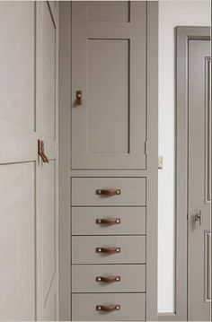Great combination and positioning of leather handles and knobs