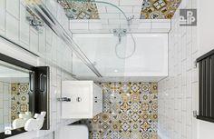 Mieszkanie Kraków, Krowodrza - Mała łazienka w bloku bez okna, styl rustykalny - zdjęcie od Pogotowie Projektowe Aleksandra Michalak