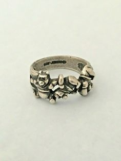 Disney Winnie the Pooh Vintage Sterling Silver 925 Ring Size 6, RARE Disney Ring, Vintage Disney Jewelry, Tumbling Winnie the Pooh Disney Rings, Disney Jewelry, Midi Rings, Disney Winnie The Pooh, Vintage Disney, Stacking Rings, Statement Rings, Sterling Silver Rings, Rings For Men