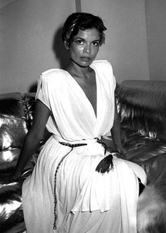Fashion Theory: The Evolution of the Caftan - Bianca Jagger in Halston at Studio 54, 1980