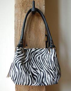 Owen Barry Our best selling style beautifully styled in Zebrini hide - #shoulderbag #handbag £95