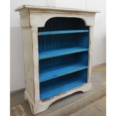 French Country Bookcase ($400) ❤ liked on Polyvore featuring home, furniture, storage & shelves, bookcases, bookshelves, grey, home & living, living room furniture, provence furniture and gray furniture