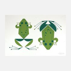 Amphibian Print 19x12.5 now featured on Fab.