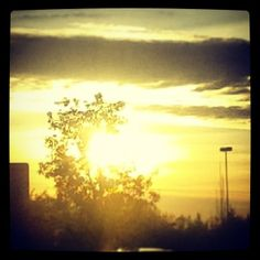 Closing the Daily Examen looking at the sunset from a familiar spot...Glory to God, Alleluia!