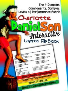 FREE! Charlotte Danielson Flip Book: Domains, Components, Samples, and Rubrics