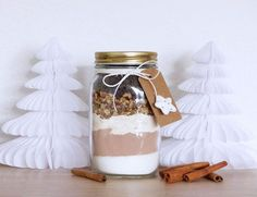 Kit to Offer Brownies with Pecans in a Jar Kit to Offer Pecan Bro Kit Cookies, Cookies Et Biscuits, Christmas Jar Gifts, Christmas Cookies, Christmas Recipes, Brownies In A Jar, Meals In A Jar, Food Gifts, Gourmet Gifts