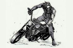 Winter Soldier motorcycle by DeanGrayson on DeviantArt Marvel Anime, Disney Marvel, Marvel Avengers, Steve Rogers Bucky Barnes, Bucky And Steve, Sebastian Stan, Bucky Barnes Fanart, Geeks, Cuadros Star Wars