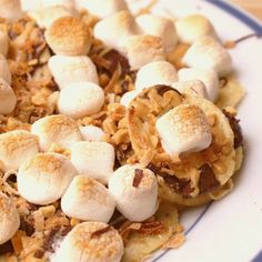 "Dessert Nachos | ""These are exactly what the name says: dessert nachos. It sounds a little strange, but they are creamy, crunchy, chocolaty, and sweet. The slight saltiness of the nachos goes perfectly with the sweet chocolate and salty-sweet peanut butter."""