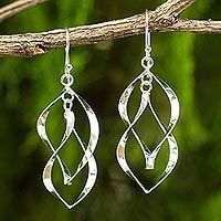 Discover unique handcrafted treasures. Every purchase will help UNICEF save and improve children's lives and help support talented artisans. Sterling silver dangle earrings, 'Linking Leaves'