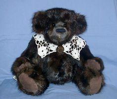 Recycled Muskrat Fur Coat Bear by BearsandBuddies on Etsy