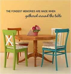 The Fondest Memories Are Made When Gathered by TheVinylCompany, $12.00