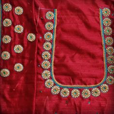 Embroidered Blouse, Embroidery Dress, Hand Embroidery, Embroidery Designs, Simple Blouse Designs, Blouse Neck Designs, Simple Designs, Aari Work Blouse, Maggam Works