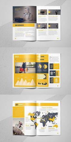 The Creative Brochure Magazine Layout Design, Book Design Layout, Print Layout, Newsletter Layout, Newsletter Design, Booklet Template, Booklet Design, Minimal Web Design, Graphic Design Branding