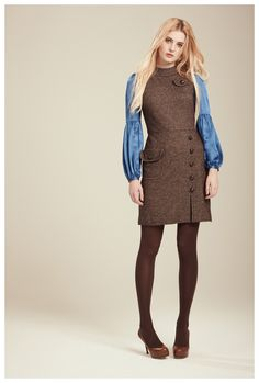 Francis Fall 2012 - Faye tweed knit dress and Nan silk blouse