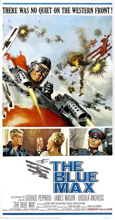 The Blue Max (1966) movie poster (Restoration performed by Darren Harrison)
