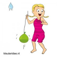 Waterspelletjes voor kleuters, juf Petra van kleuteridee ,spel 8,waterballonjojo.
