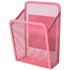 UBrands Locker Mesh Storage Bin - Pink ($2.99) ❤ liked on Polyvore featuring home, home decor, small item storage, storage lockers, mesh bin, pink storage bins, mesh storage bins and storage bins