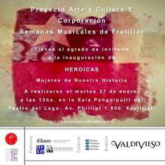 HEROICAS, exposición colectiva en Teatro del Lago, Frutillar.