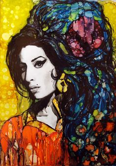 ARTFINDER: Amy by raffaella bertolini - A source of inspiration for me comes from legendary music icons - pioneering artists who influenced entire generations. In my series of 'Icons' portraits I w...