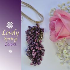Charming Pendant VIGNA , delicate and perfect for your trendy style💜🍇💜🍇