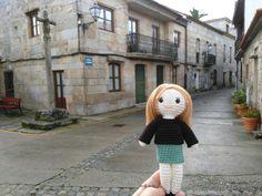 Muñeca Sesi,calle cruceiro,Vilanova de Arousa, Rías Baixas,Galicia,Spain
