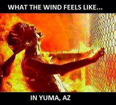 What the wind feels like.......in Yuma, Arizona