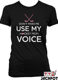 Funny Hockey Shirt Gifts For Mom Sport T Shirt Hockey Fan Geekery Ladies Joke Tee MD-87                                                                                                                                                     More