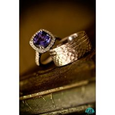 Unique stunning sapphire engagement and wedding rings for an incredibly fashionable stylish couple!
