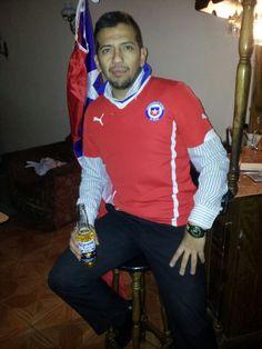 Vamos  Chile Mierda..... blanco Rojo y Azul .......