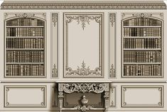 "When clients ask for a ""French paneled room,"" they generally mean the carved wood boiserie and decoration found at Versailles. Section Drawing Architecture, Wood Architecture, Architecture Details, Classic Interior, French Interior, Ceiling Design, Wall Design, Wall Molding, Moulding"