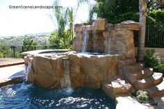The Green Scene's award-winning and innovative landscape design and construction firm, run by Designer Scott Cohen, is uniquely capable of handling all of your outdoor resort-style landscape design and construction needs in the Los Angeles area. Grotto Pool, Lagoon Pool, Swimming Pool Landscaping, Swimming Pools, Construction Firm, San Fernando Valley, Los Angeles Area, Tropical Design, Resort Style