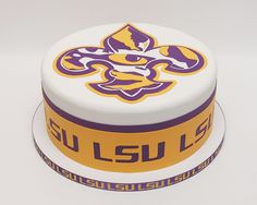 """Eye of the Tiger""  LSU birthday cake."