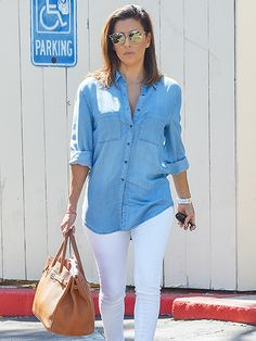 Star Tracks: Monday, September 19, 2016 | STREET CHIC | Eva Longoria isn't afraid of breaking a few style rules as she heads out for lunch in West Hollywood on Thursday. | #outfit #celebrityoutfit