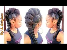 Tutorial : Mohawk / Faux hawk style with a jumbo braid - YouTube