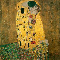 Le Baiser de Klimt Oeuvre inspirée des estampes du japon. Chef d'eouver de l'époque moderne