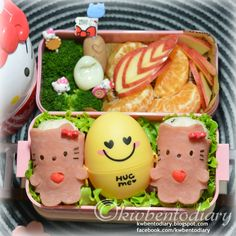 Karenwee's Bento Diary: Bento2014#Feb26~Hug Me Hello Kitty