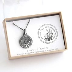 Live the Life You Dream About Necklace from Figs and Ginger