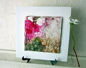 Modern Home Decor, small original abstract encaustic beeswax painting 12x12in, OOAK Art, Etsy Art, fine art gift 2